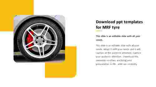 download ppt templates for MRF tyre