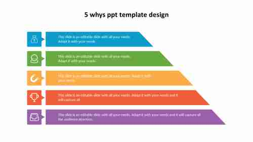 5 whys ppt template design