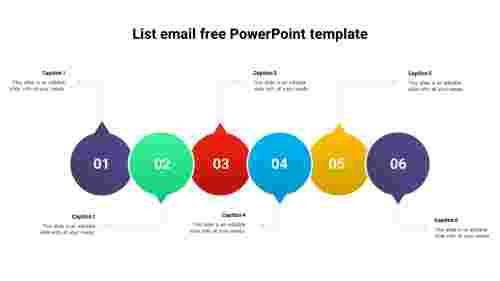 Editable%20list%20email%20free%20PowerPoint%20template%20