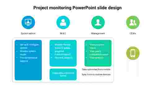 Process%20of%20Project%20monitoring%20PowerPoint%20slide%20design