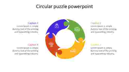 Circular puzzle powerpoint