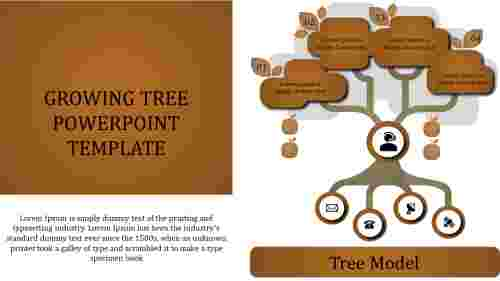 growing tree powerpoint template-hierarchy model