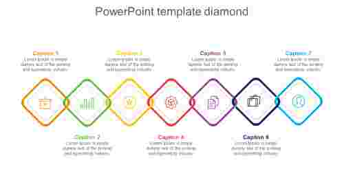 powerpoint template diamond-7