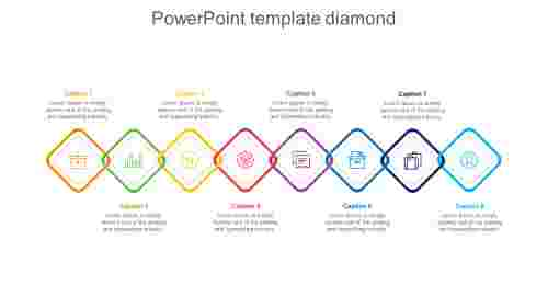 powerpoint template diamond-8