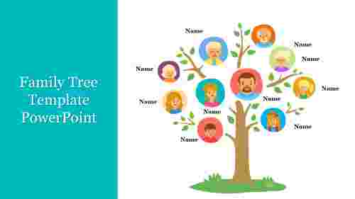 Creative%20Family%20Tree%20Template%20PowerPoint