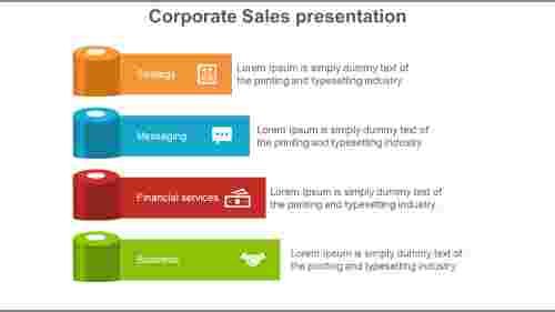 corporate sales presentation ppt layers