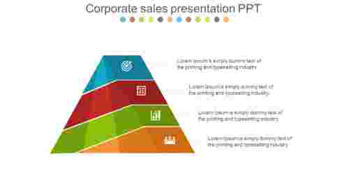 corporate sales presentation PPT pyramid model