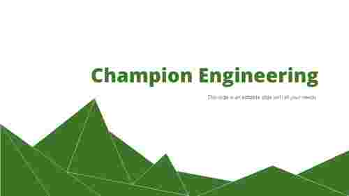 Engineering powerpoint presentation template-Triangle Design