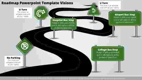 roadmap powerpoint template-Roadmap Powerpoint Template Visions