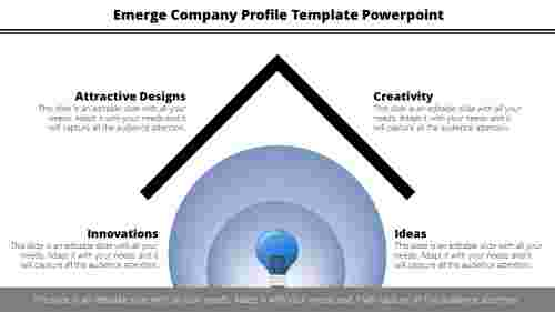 Company profile template powerpoint with bulb design