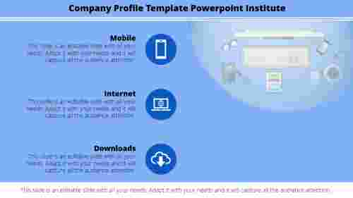 Best company profile template powerpoint