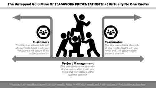 Teamwork presentation with Clipart