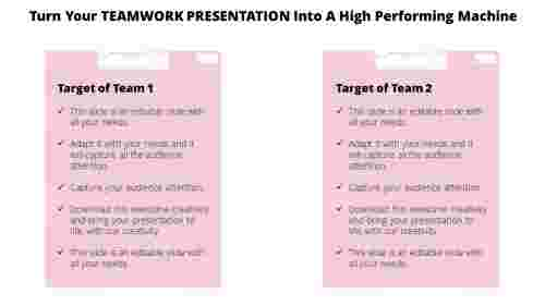 Teamwork presentation Rectangle Shape
