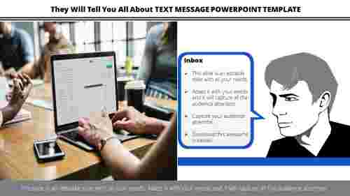 Portfolio text message powerpoint template