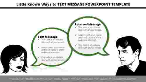 Text message powerpoint template quotes model