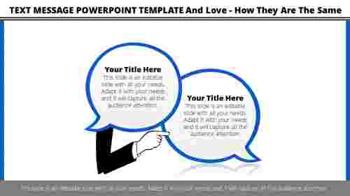 Text message powerpoint template-Callouts design
