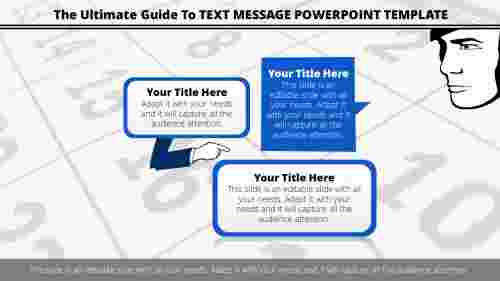 Text message powerpoint template with callouts design