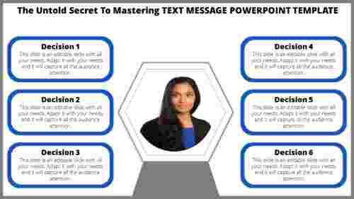 text message powerpoint template