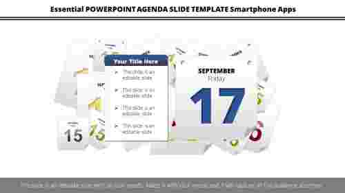 PowerPoint agenda slide template purpose