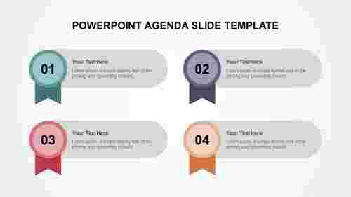 PowerPoint agenda slide template - 4 noded