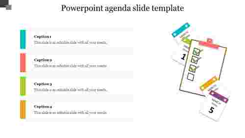 Innovative PowerPoint agenda slide template