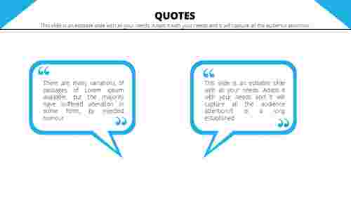 Powerpoint quote template rectangle model