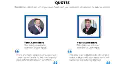 Business PowerPoint quote template