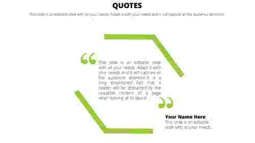 Normal powerpoint quote template