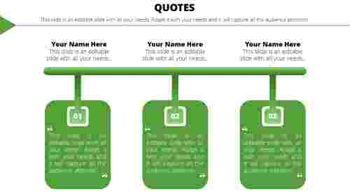 PowerPoint quote template interesting ideas
