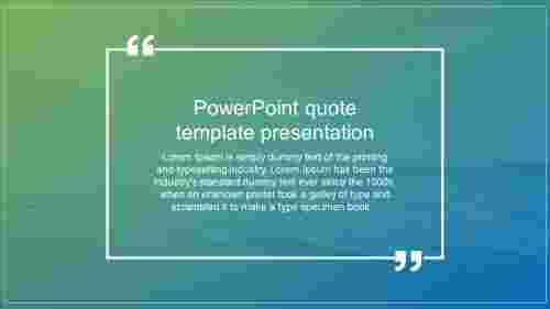 Powerpoint quote template presentation design