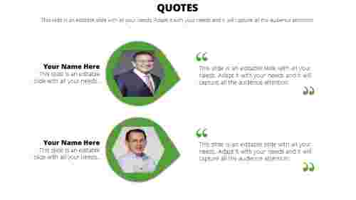 PowerPoint quote template leaf model