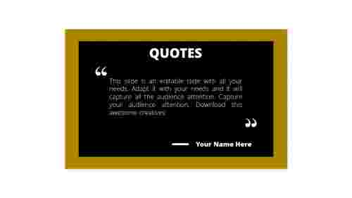 PowerPoint quote template black board model