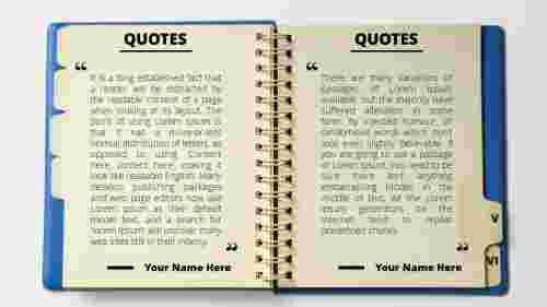 Powerpoint quote template note model