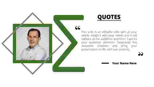 PowerPoint quote template sigma model