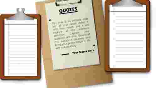 PowerPoint quote template clipboard model