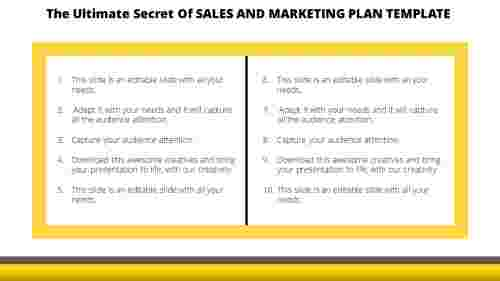 Table Model Sales And Marketing Plan Template