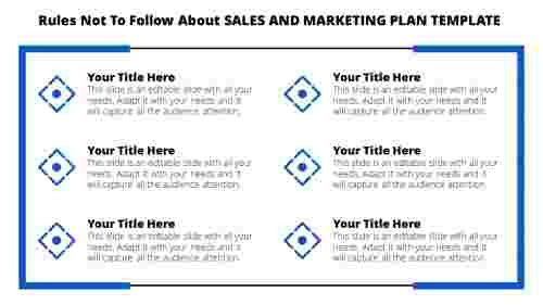 A six noded sales and marketing plan template