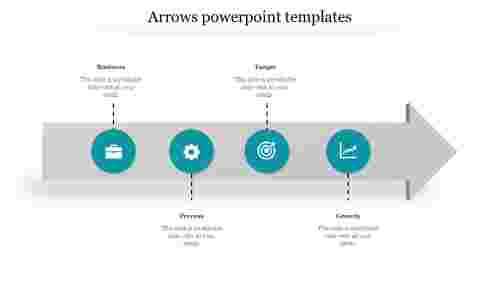 Circles with Arrows Powerpoint Templates