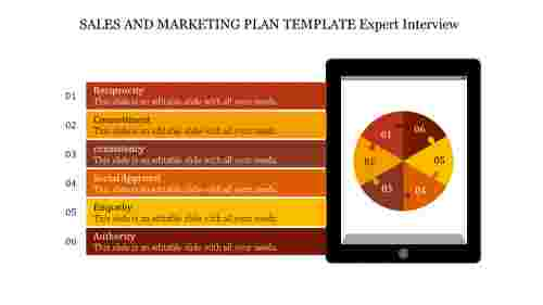 Attractive sales and marketing plan template