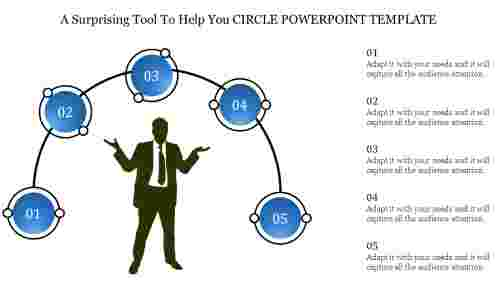circle powerpoint template-