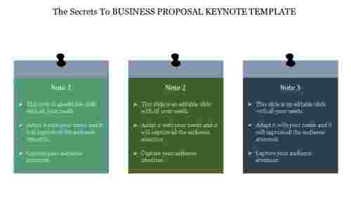 Free business proposal keynote template