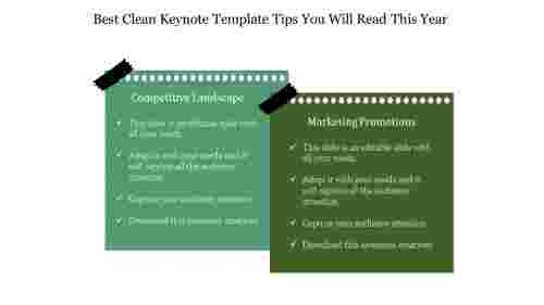 Compare Clean Keynote Template