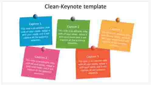 clean keynote template model