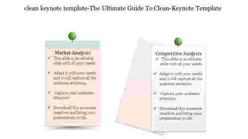 Clean Keynote Template About Marketing Analysis