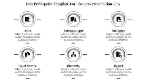 best powerpoint template for business with six nodes