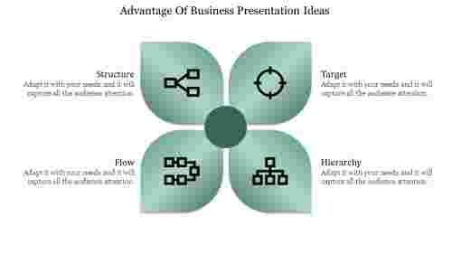 business presentation powerpoint template in flower model