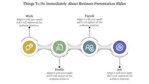 Instant business presentation slides