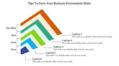 Grow your business presentation slides with graph representation