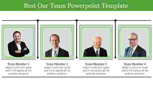 Portfolio Our team powerpoint template