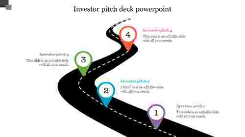 Road Map Modal Investor Pitch Deck Powerpoint Template